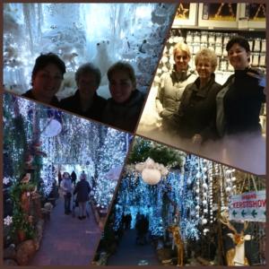 Fijne middag met mijn moedertje en mijn zus geluncht bij de Avri bloemen en Tuincentrum waar de kerstshow te bekijken is.
