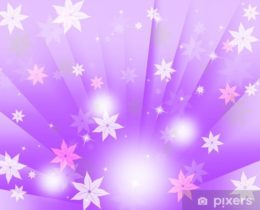 Purple Bubbles Background Means Flowers Light And Beams.